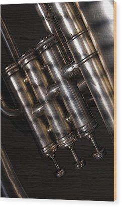 Wood Print featuring the photograph Tuba No. 3 by Chuck De La Rosa