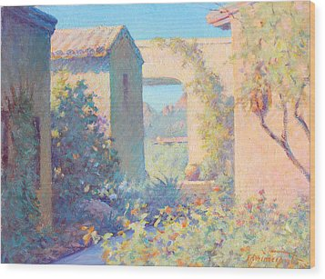 Tubac Village Center Wood Print by Ernest Principato