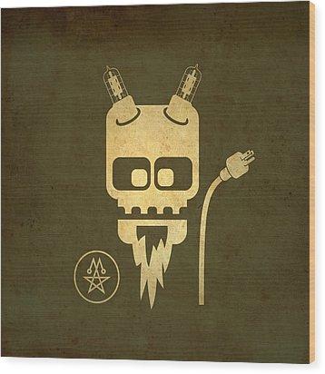 Wood Print featuring the digital art Tube Devil by Milton Thompson