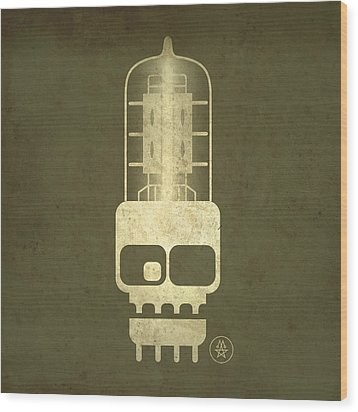 Tubeskull Wood Print by Milton Thompson