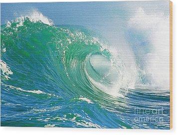 Tubing Wave Wood Print by Paul Topp
