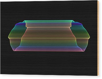 Wood Print featuring the digital art Tubular Rainbow by Denise Beverly