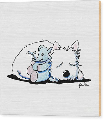 Tuckered Out Wood Print by Kim Niles