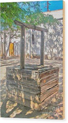 Tucson Arizona Well Wood Print by Gregory Dyer