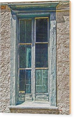Tucson Arizona Window Wood Print by Gregory Dyer