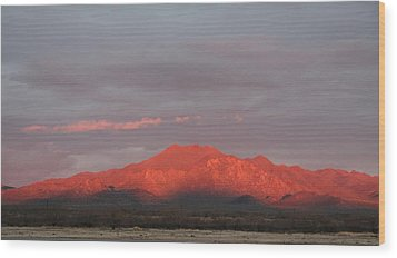 Wood Print featuring the photograph Tucson Mountains by David S Reynolds