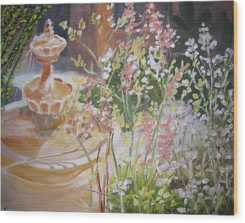 Wood Print featuring the painting Tucson Spring by Julie Todd-Cundiff