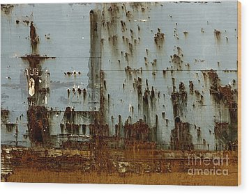 Wood Print featuring the photograph Tug- A Fisherman's Impression by Joy Angeloff