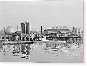 Wood Print featuring the photograph Tug Boat On The Waterfront by Vibert Jeffers