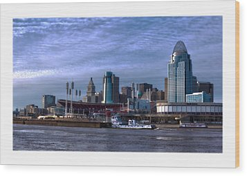 Tug Boat Passing Great American Wood Print by Tom Climes