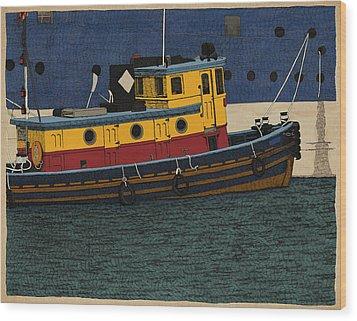Tug Wood Print