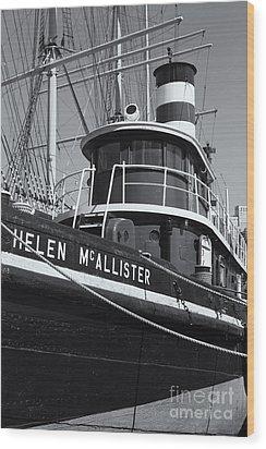 Tugboat Helen Mcallister II Wood Print by Clarence Holmes