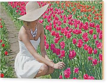Tulip Beauty Wood Print by Maria Dryfhout