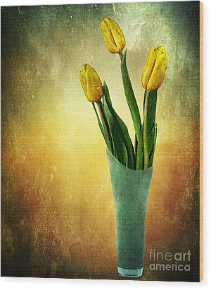 Tulip Bouquet Wood Print by Shirley Mangini
