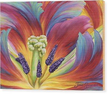 Tulip Color Study Wood Print by Jane Girardot