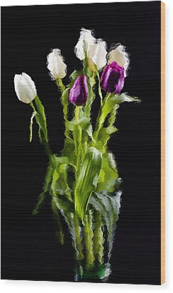 Wood Print featuring the photograph Tulip Impressions II by Penny Lisowski
