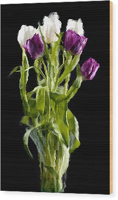 Wood Print featuring the photograph Tulip Impressions IIi by Penny Lisowski