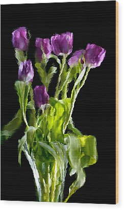 Wood Print featuring the photograph Tulip Impressions Vi by Penny Lisowski