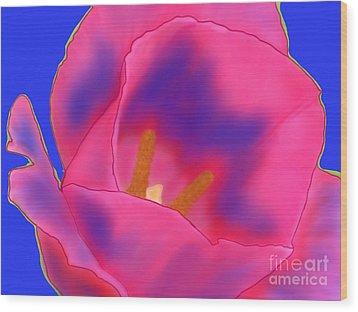 Tulip Shock Wood Print by Roxy Riou