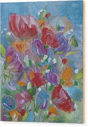 Tulip Symphony Wood Print