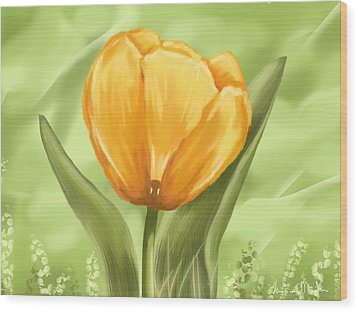 Tulip Wood Print by Veronica Minozzi