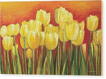 Tulips Wood Print by Ahmed Amir