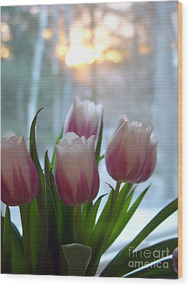 Tulips Wood Print by Christopher Mace