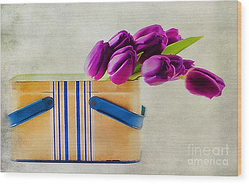 Tulips For Mom Wood Print by Darren Fisher
