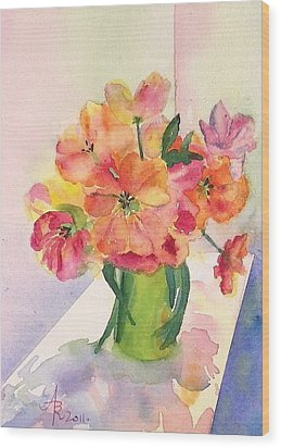 Tulips For Mother's Day Wood Print