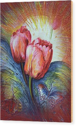 Tulips Wood Print by Harsh Malik