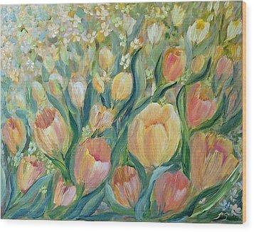 Tulips II Wood Print by Joanne Smoley