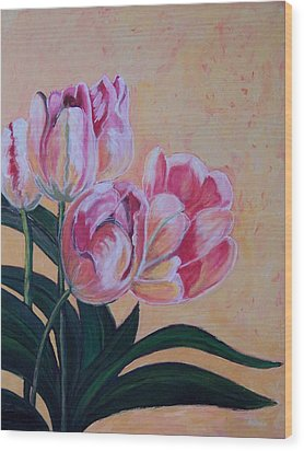 Tulips Wood Print by Krista Ouellette