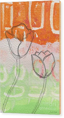 Tulips Wood Print by Linda Woods