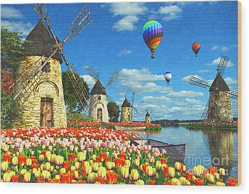 Tulips Of Amsterdam Wood Print by Dominic Davison