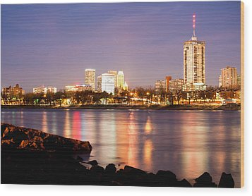 Tulsa Oklahoma From The Shoreline Wood Print