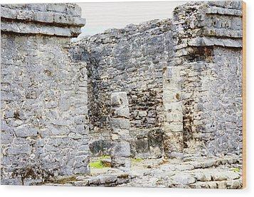 Tulum Ruins 1 Wood Print