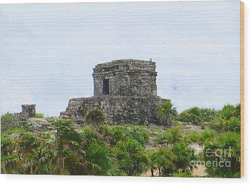 Tulum Ruins 2 Wood Print