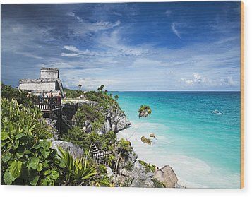 Tulum Wood Print by Yuri Santin