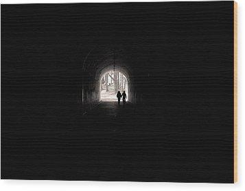 Tunnel At Marin Headlands Wood Print