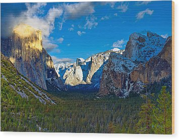Tunnel View Wood Print by Mark Whitt