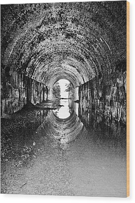 Tunnel Vision Wood Print by Anthony Thomas