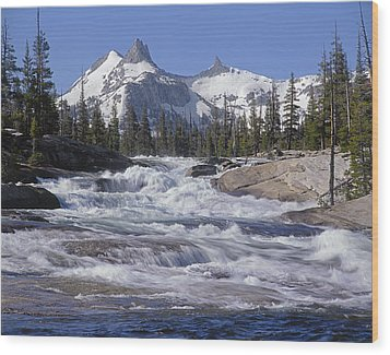 6m6539-tuolumne River  Wood Print