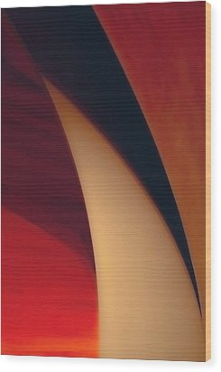 Turbine Wood Print by Peter Benkmann