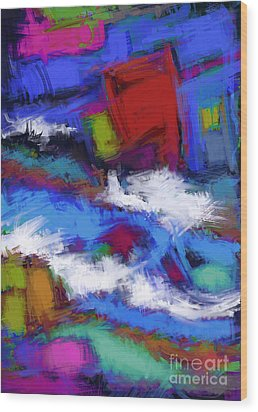Turbulence Wood Print by Keith Mills