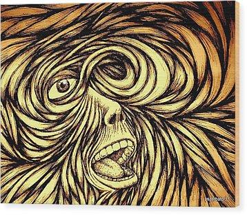 Turbulence Of Life Wood Print by Paulo Zerbato