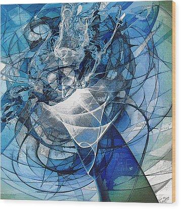 Turbulence Wood Print by Reno Graf von Buckenberg