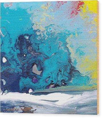 Turbulent 3 Wood Print by Kelly Turner