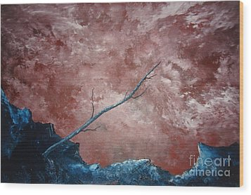 Wood Print featuring the painting Turbulent Stick by Stuart Engel