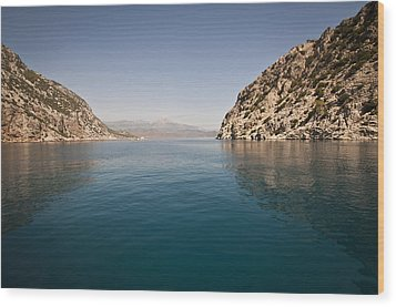 Wood Print featuring the photograph Turkish Bay by David Isaacson