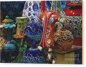 Turkish Ceramic Pottery 2 Wood Print